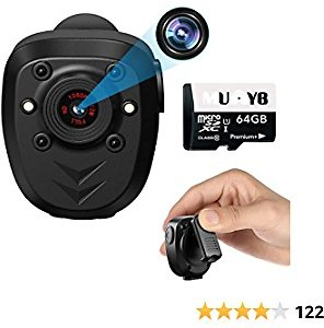 Mini Body Worn Camera Pocket Wireless Small Police Video Recorder Indoor Outdoor Wearable Mounted Camera, Tiny HD Cop Cam DVR,10