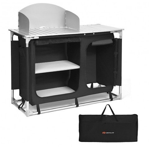 Costway Portable Camp Kitchen and Sink Table
