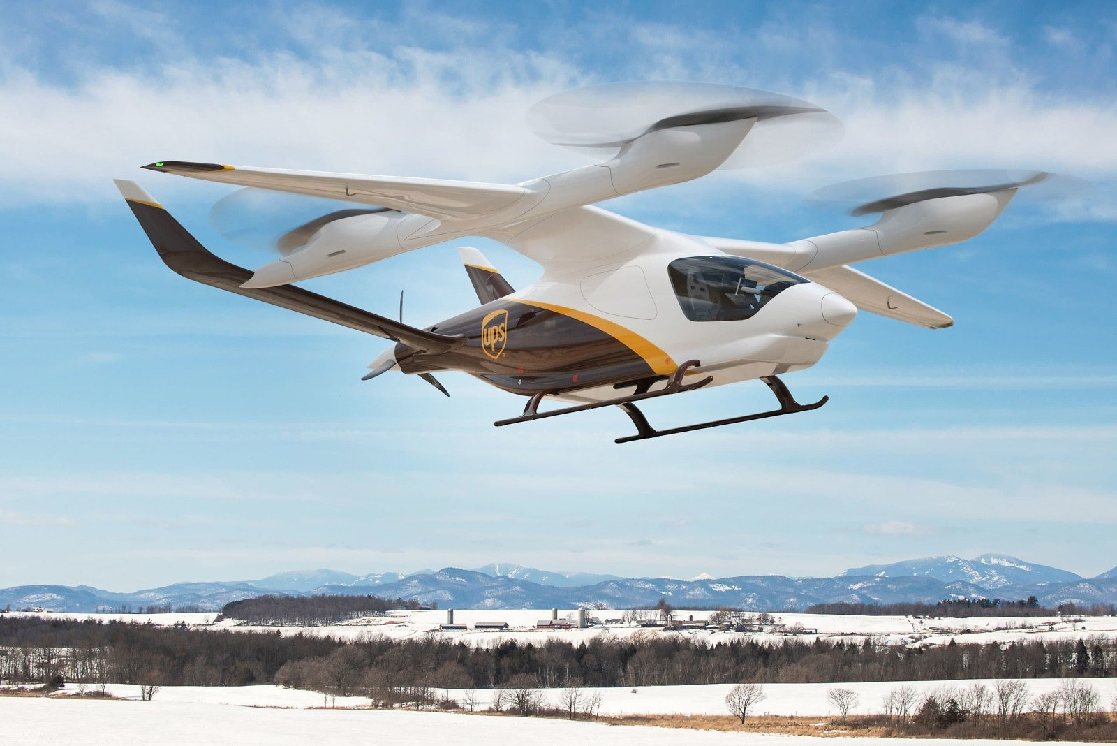 UPS Agrees to Buy Electric Vertical Aircraft to Speed Up Package Delivery in Small Markets