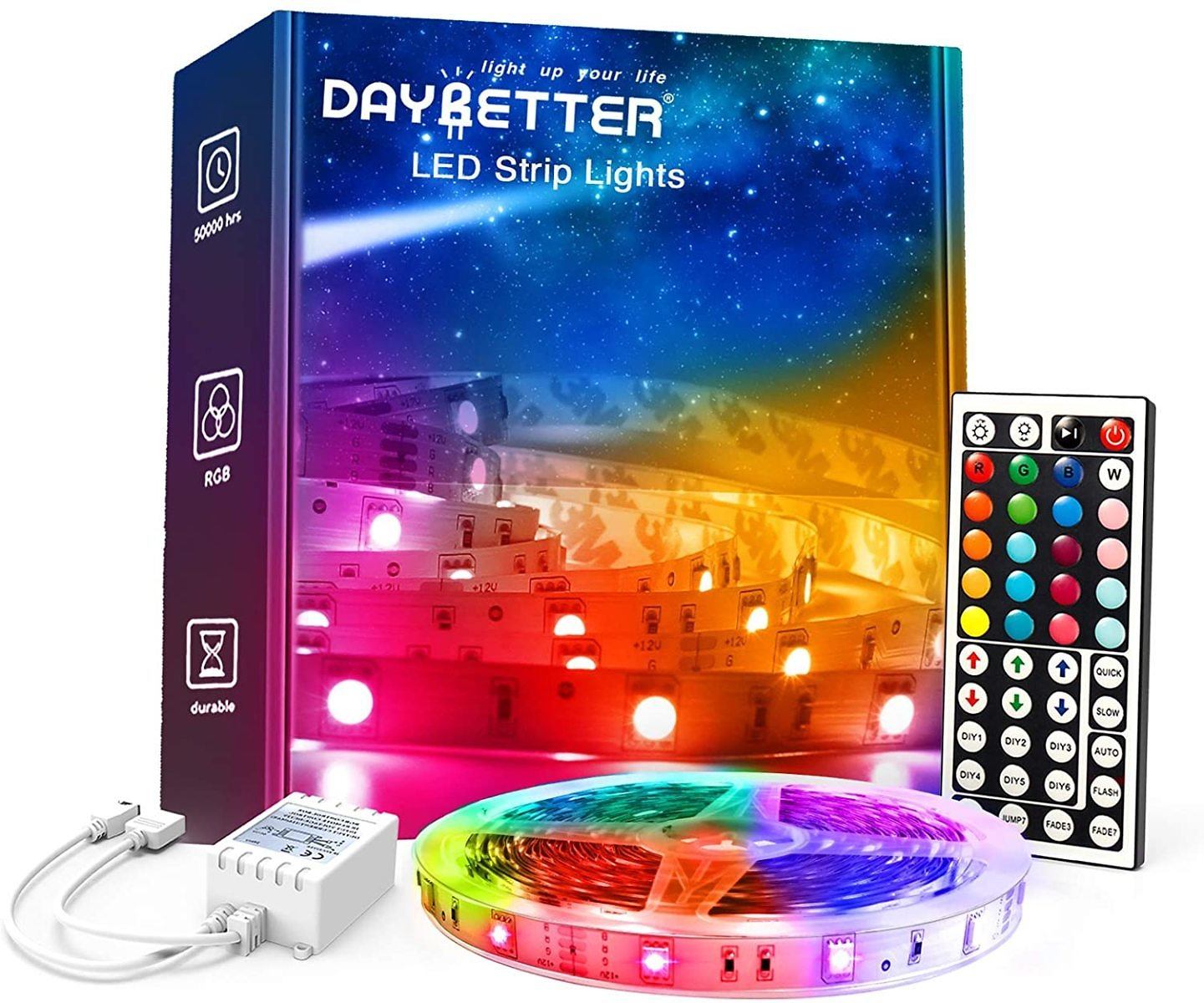 32.8 Ft DAYBETTER Color Changing LED Strip Lights