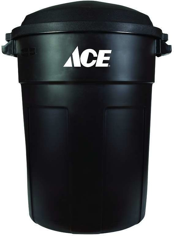 Ace 32 Gal. Plastic Garbage Can W/Lid