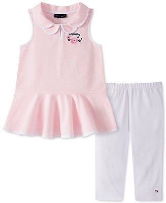Tommy Hilfiger Baby Girls 2-Pc. Printed Piqué Tunic & Leggings Set & Reviews - Sets & Outfits - Kids