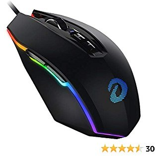 DAREU RGB Wired Gaming Mouse, Pro Gaming Mouse 10000 DPI/CPI, 7 Programmable Buttons Gaming Mice for PC Gaming and Mac