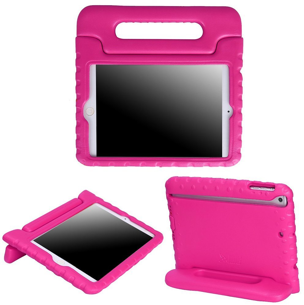 HDE Kids Case Protective Cover Handle Stand for Apple IPad Mini 1 2 3 Retina (Pink)