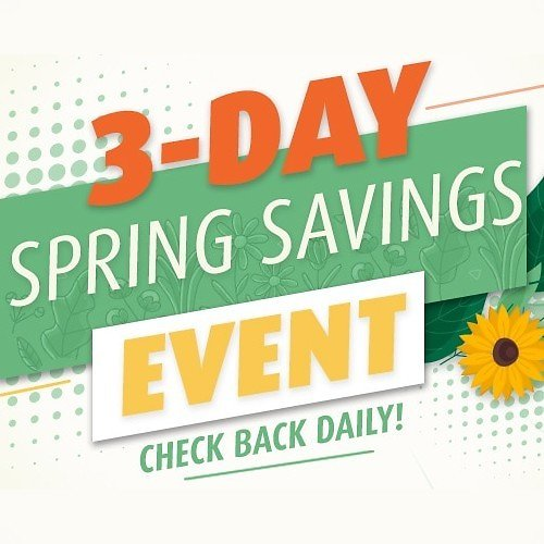 Up to $1,300 Off 3-Day Spring Savings Event