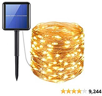 AMIR 200 LED Waterproof Upgraded Solar String Lights $11.69 35% OFF with The Code