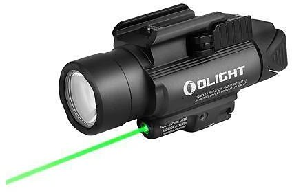 OLIGHT Baldr Pro 1350 Lumens Tactical Weaponlight with Green Laser and White LED, 260 Meters Beam Distance Compatible with 1913 or GL Rail, Powered By 2 X CR123A Batteries - Newegg.com