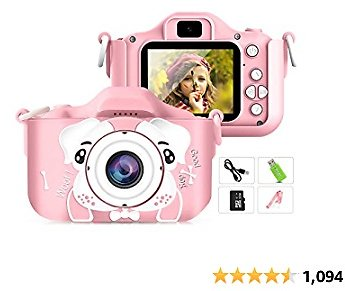 Sinceroduct Kids Camera, 20.0MP Digital Dual Camera with 2.0 Inch IPS Screen,32GB SD Card Included, Ideal Gift for 3-12 Years Ol