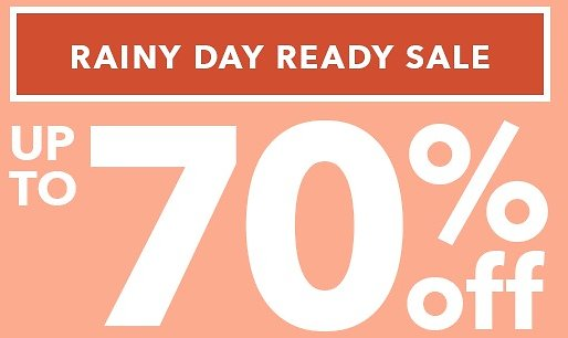 Up To 70% + 25% Off Rainy Day Ready Sale - Joann