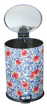 Pioneer Woman 10.5 Gal / 40L Stainless Steel Oval Kitchen Trash Can with Lid (Multiple Colors)