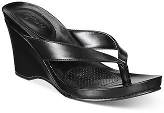 Style & Co Chicklet Wedge Thong Sandals, Created for Macy's & Reviews - Sandals - Shoes