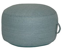 Bee & Willow™ Home Hermosa Round Indoor/Outdoor Pouf Ottoman in Turquoise