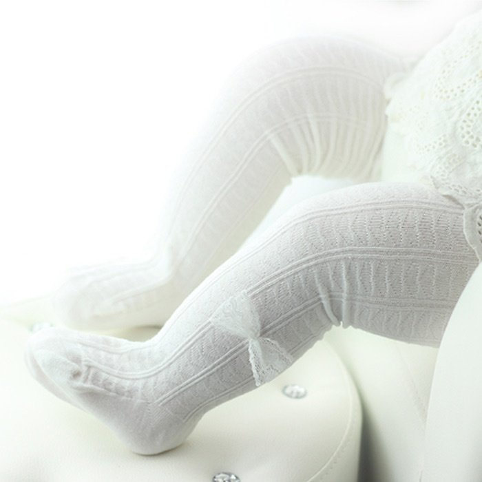 Baby & Toddler Comfy Bow Decor Tights