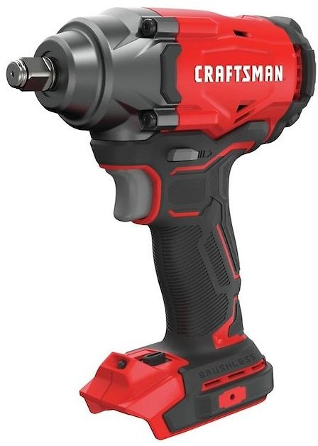 CRAFTSMAN V20 20-Volt Max Variable Speed Brushless 1/2-in Drive Cordless Impact Wrench