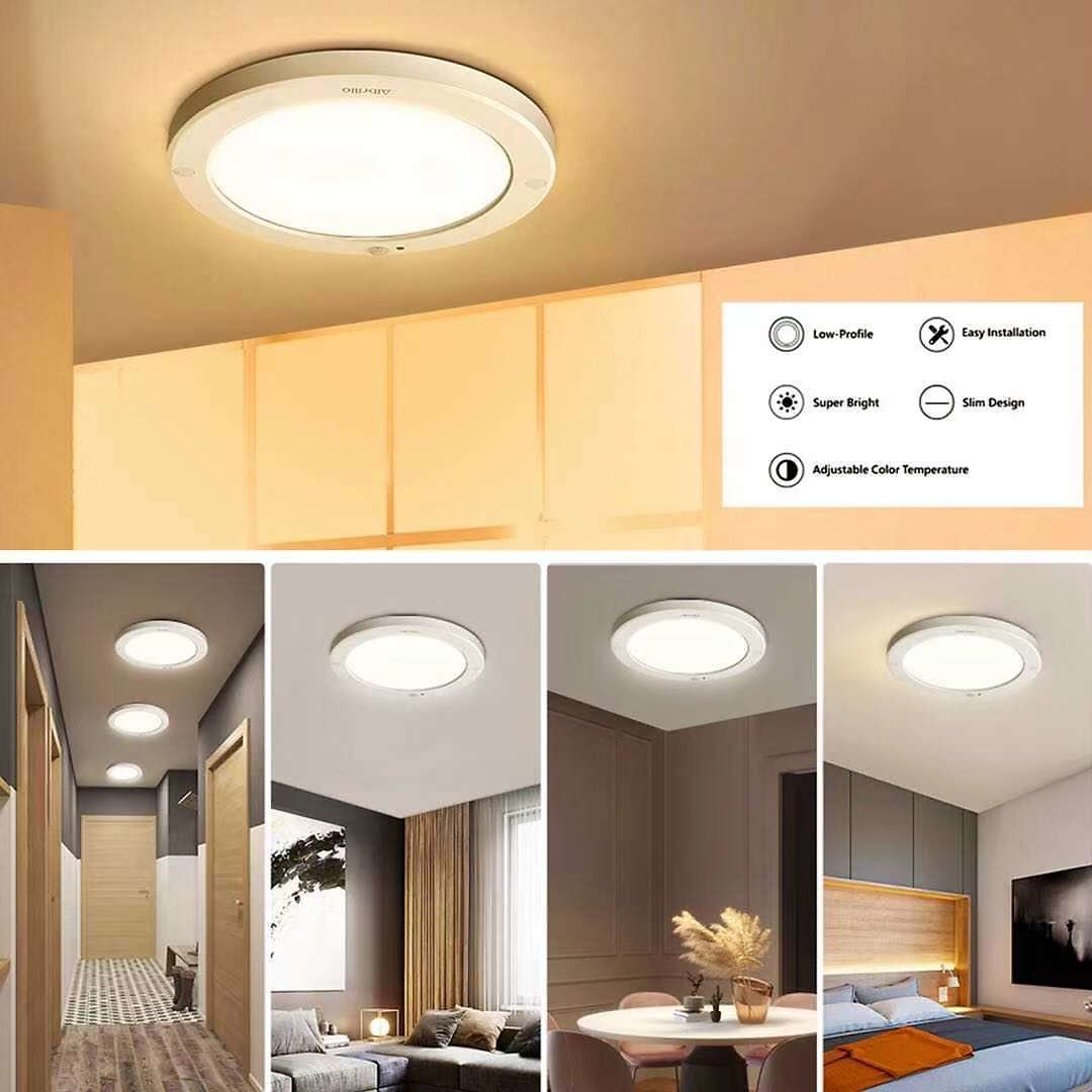 Save 30% with Code, Never Miss It! Motion Sensor Ceiling Light, 16W 100W Equivalent 1200LM LED Flush Mount