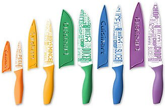 Cuisinart 10-Pc. Ceramic-Coated Printed Cutlery Set with Blade Guards