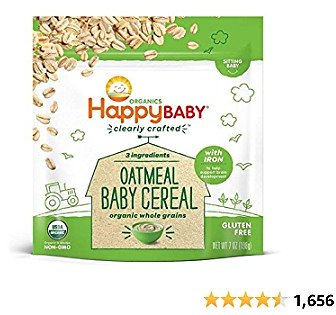 42-Ounces Happy Baby Organics Clearly Crafted Oatmeal Baby Cereal