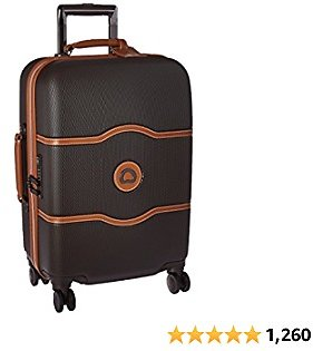 DELSEY Paris Chatelet Hardside Luggage with Spinner Wheels, Chocolate Brown, Carry-on 21 Inch, with Brake