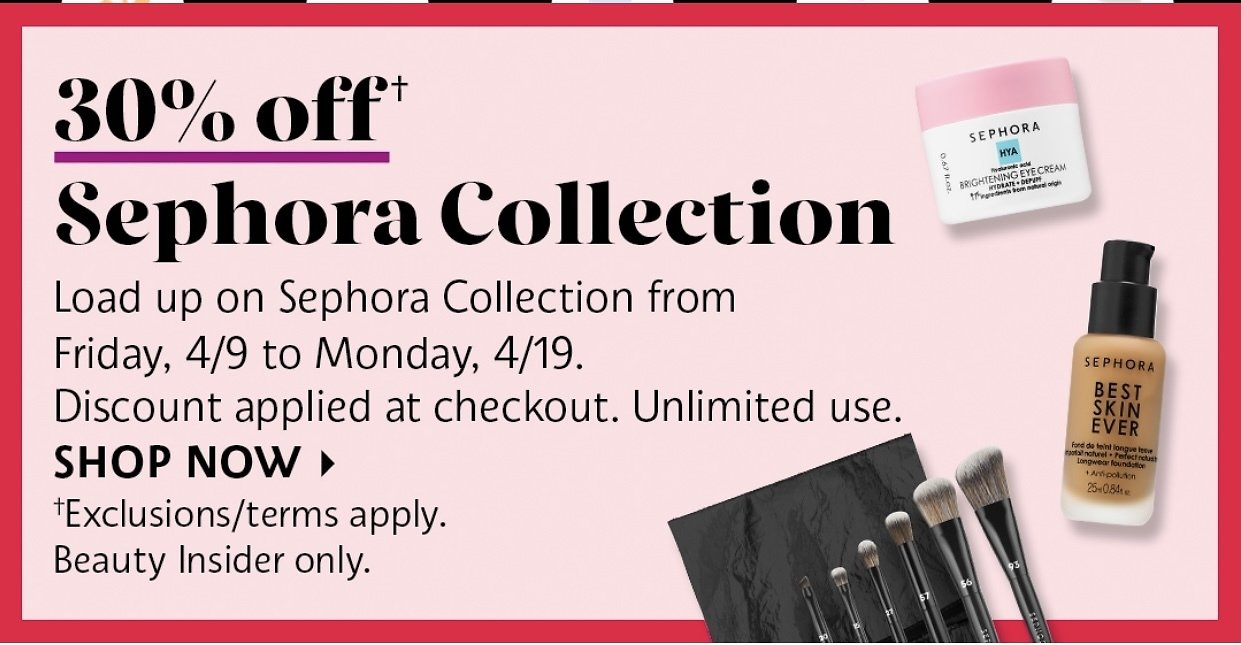 30% Off Sephora Collection