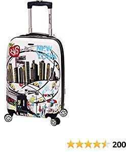 Rockland Departure Hardside Spinner Wheel Luggage, New York, Carry-On 20-Inch