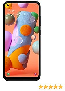 (Free $35 Airtime Activation Promotion) Total Wireless Samsung Galaxy A11 4G LTE Prepaid Smartphone (Locked) - Black - 32GB - Sim Card Included - CDMA