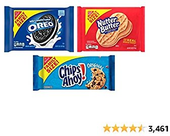 OREO, CHIPS AHOY! & Nutter Butter Cookie Variety Pack, Family Size