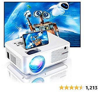 Bomaker 2021 Upgraded HD Video Projector, Full HD 1080P and 200 Inches Display Supported, 200 ANSI Lumen, WiFi Mini Portable Home Theater Outdoor Movie Projector, Compatible with Fire TV Stick