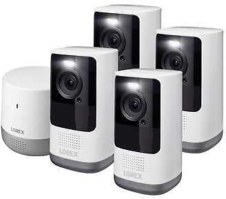 Lorex 2K QHD 4 Camera Wire-Free Security System with Person Detection