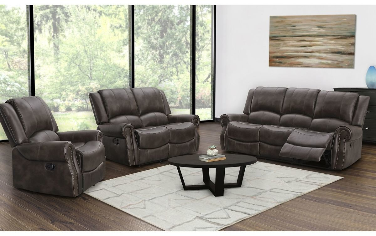 Abbyson Living Browning 3-Pc. Manual Reclining Living Room Set