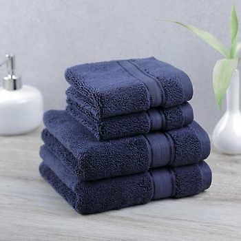 More Colours Purely Indulgent 4-piece Egyptian Cotton Hand Towel and Washcloth Set