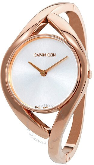 Calvin Klein Party Small Silver Dial Bangle Ladies Watch