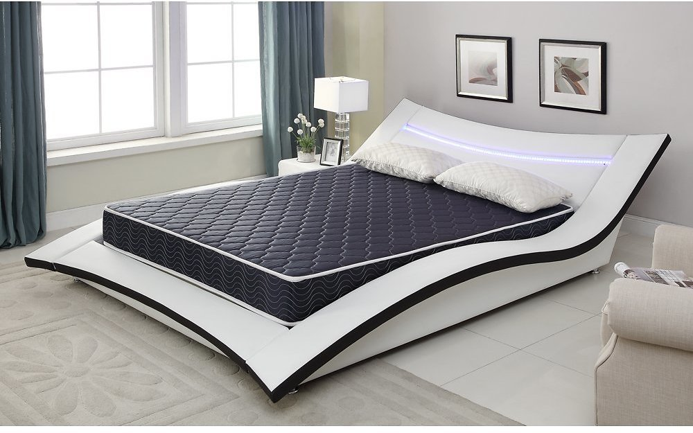 6-Inch Foam Mattress Covered in a Stylish Waterproof Fabric, Twin, Available in Various Sizes