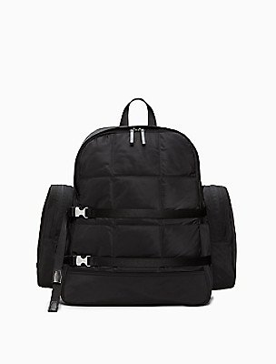 Rectangle Quilted Large Backpack   Calvin Klein