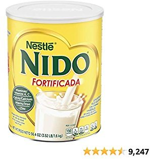 NESTLE NIDO Fortificada Dry Milk 56.4 Ounce Canister
