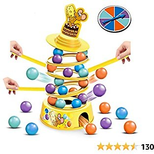 HISTOYE Tower Stacking Fun Board Game for Kids 4-6 Adults Balance Suspend Family Games for Party Montessori Tumbling Educational Fine Motor Skills Toys Gifts for 4 5 6 7 8 9+ Years Old Boys & Girls