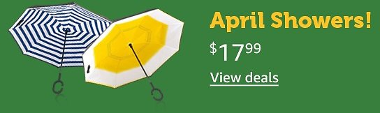 Reverse Opening Umbrellas For $17.99 - Woot