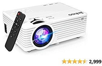 2020 Latest Projector, Mini Video Projector with 5500 Brightness, 1080P Supported, Portable Outdoor Movie Projector, 176