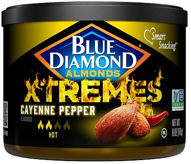 New Blue Diamond Almonds, XTREMES Flavored, Cayenne Pepper, 6-Ounce