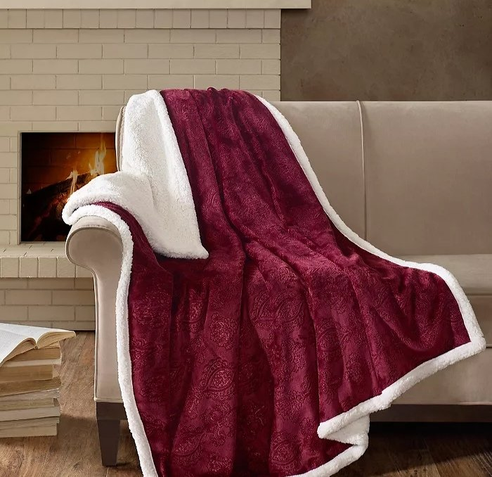 Home Essence Celia Oversized Textured Plush Throw (2 Colors)