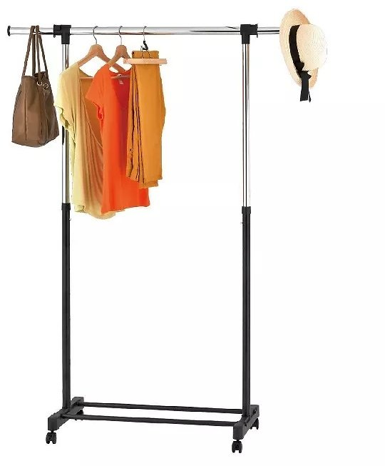 Room Essentials™ Adjustable Single Rod Garment Rack