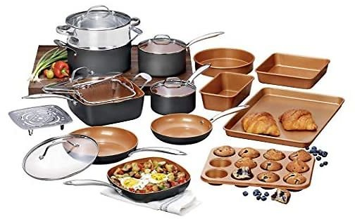 Gotham Steel Pro Hard-Anodized 20-Piece Cookware & Bakeware Set
