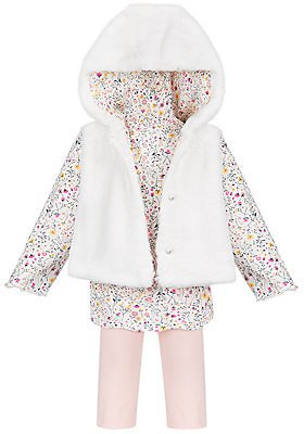 Baby Girls Faux Fur Vest Tunic Set - Macy's
