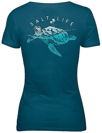 Salt Life Women's Turtle Island V-Neck Tee