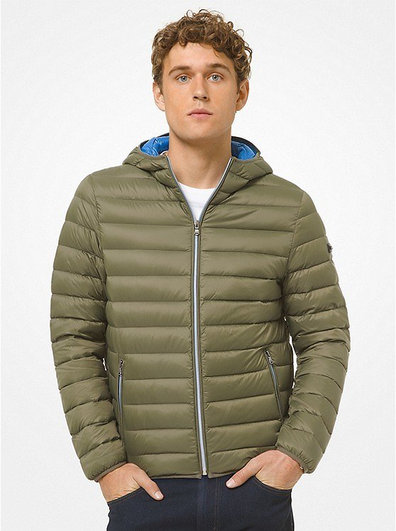 Michael Kors Mens Quilted Nylon Puffer Jacket