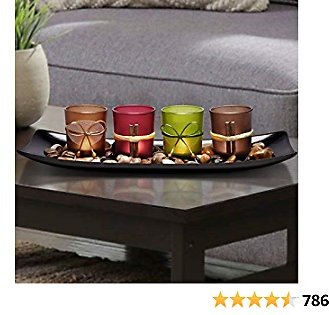 Lamorgift Home Decor Candle Holders Set for Bathroom Decorations - Candle Holder Centerpieces for Dining Room Table & Living Roo