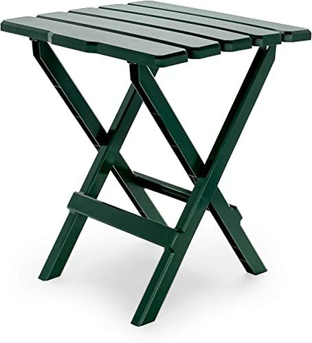 Camco Large Adirondack Portable Outdoor Folding Side Table - Green