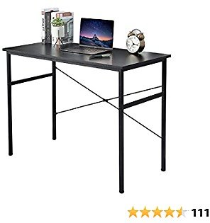 Save 40% Off On Lastia Computer Desk Modern Style Simple Work Table for Home Office Study Writing (Black Oak/Espresso,32