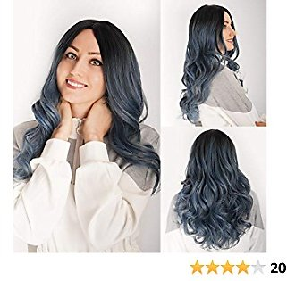 Demides Synthetic Wavy Wigs Ombre 20