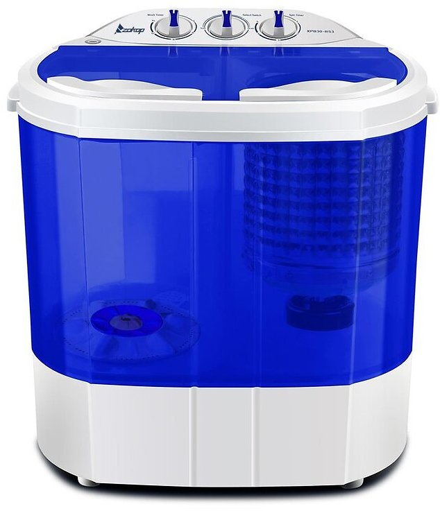 4.3 Cu. Ft. High Efficiency Portable Washer & Dryer Combo in Blue/White