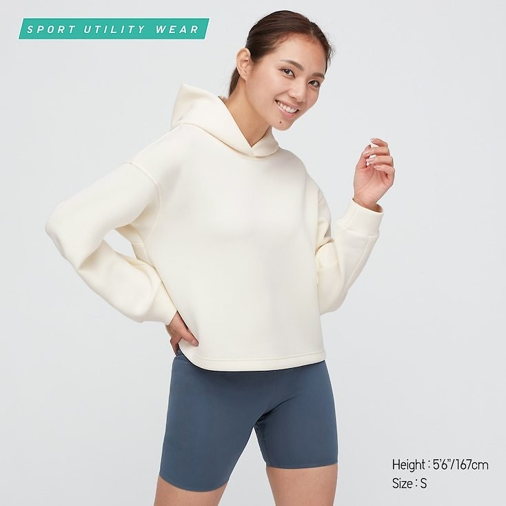 WOMEN ULTRA STRETCH DRY SWEAT PULLOVER HOODIE